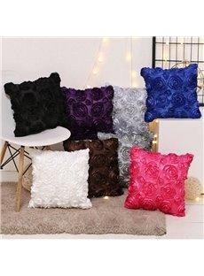 3D Rose Floral Design Colorful Festival Party Decor Pillowcase