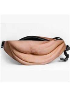 Dad Bag Fake Belly Waist Pack Unisex Fanny with Adjustable Belt
