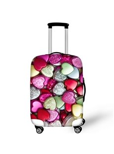 Colorful Heart Shape Stone Waterproof Suitcase Protector for 19 20 21