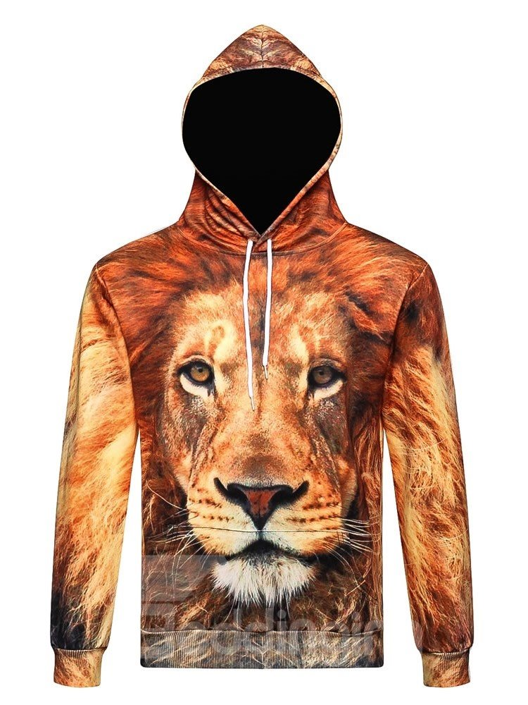 Animal Cool Lion Long Sleeve 3D Pattern Hoodie