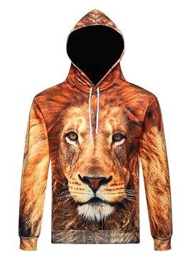 Animal Cool Lion Long Sleeve 3D Pattern Hoodie