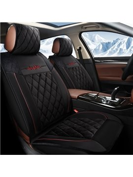 Cost-efficient Business Style Classic Linen Material Universal Five Car Seat Cover
