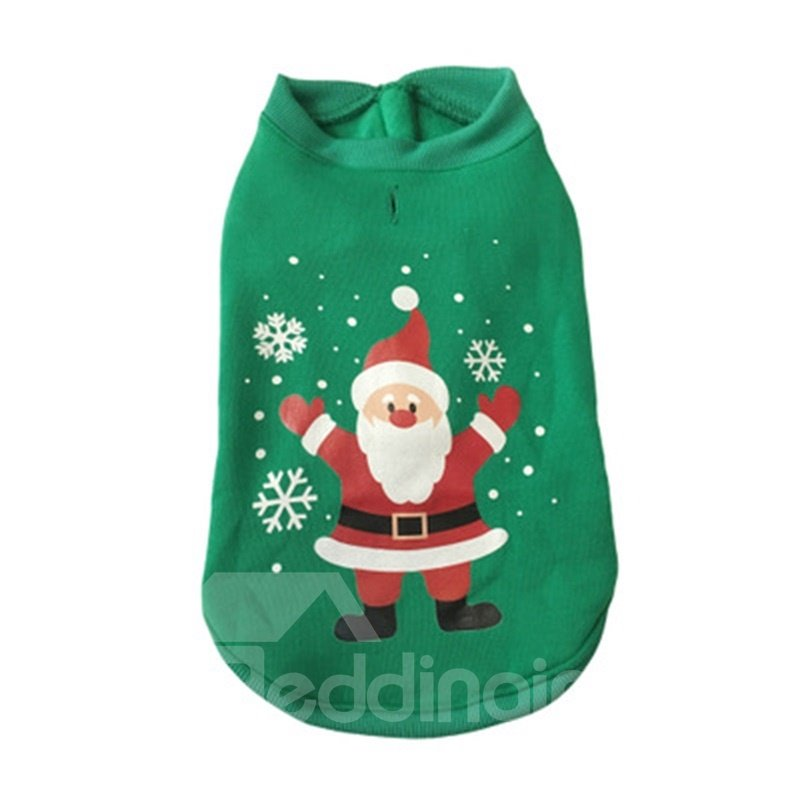 Christmas Shirt Dog Holiday Snowman Pattern Clothes for Small Dogs ...