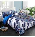 Adorila 60S Brocade Floral Mandala Exotic Style 4-Piece Cotton Bedding Sets/Duvet Cover