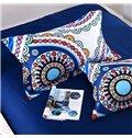 Adorila 60S Brocade Multicolor Floral Paisley Pattern Exotic Style 4-Piece Cotton Bedding Sets