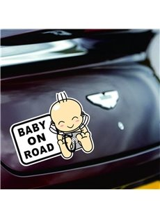 Cute Pattern And Mention Baby In Car Practicable Car Pump Sticke