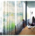 Clean Seas and Blue Sky Printed Thick Polyester Natural Beauty Grommet Top Curtain