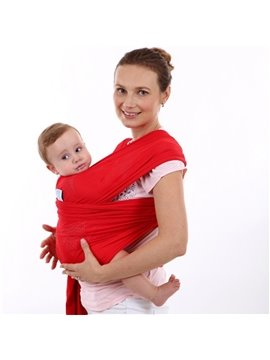 Adjustable Multi Color Simple Style Cotton 1-Piece Baby Carrier