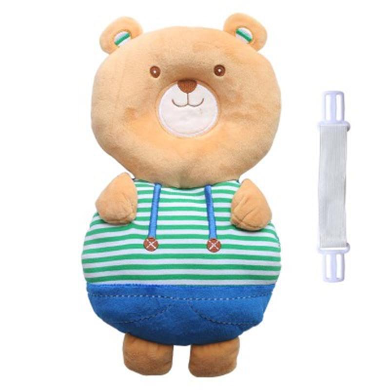 Bear Shape Buckle Cotton 1-Piece Anti-Tumbling Toddlers Pillow