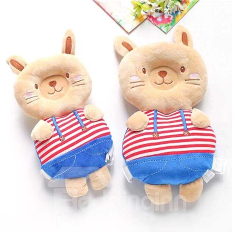 Rabbit Shape Buckle Cotton 1-Piece Anti-Tumbling Toddlers Pillow