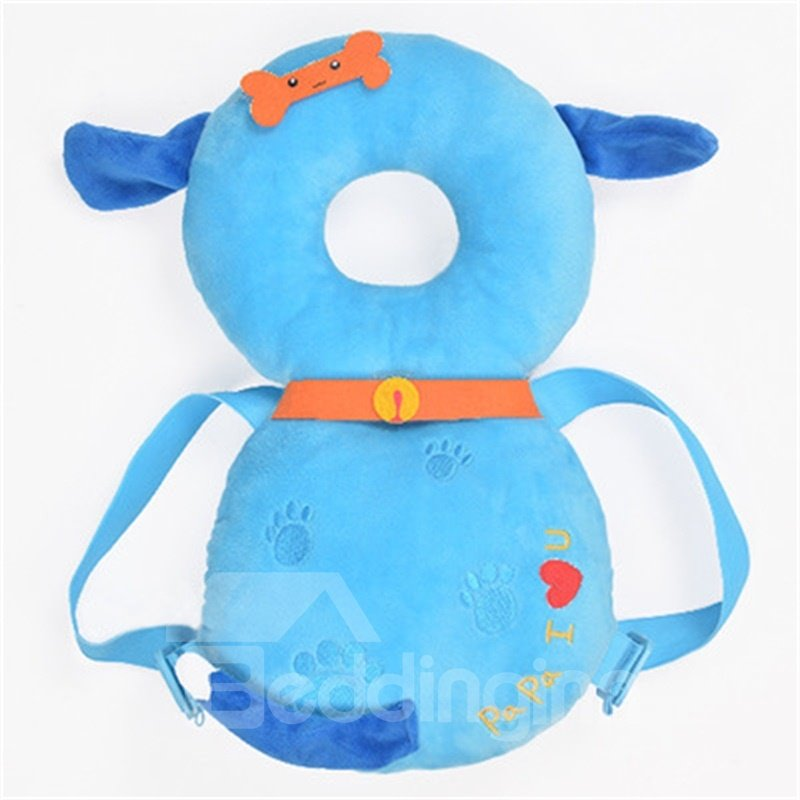 Dog Buckle PP Cotton 1-Piece Blue Anti-Tumbling Best Toddler Pillow