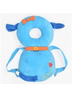 Dog Buckle PP Cotton 1-Piece Blue Anti-Tumbling Toddlers Pillow