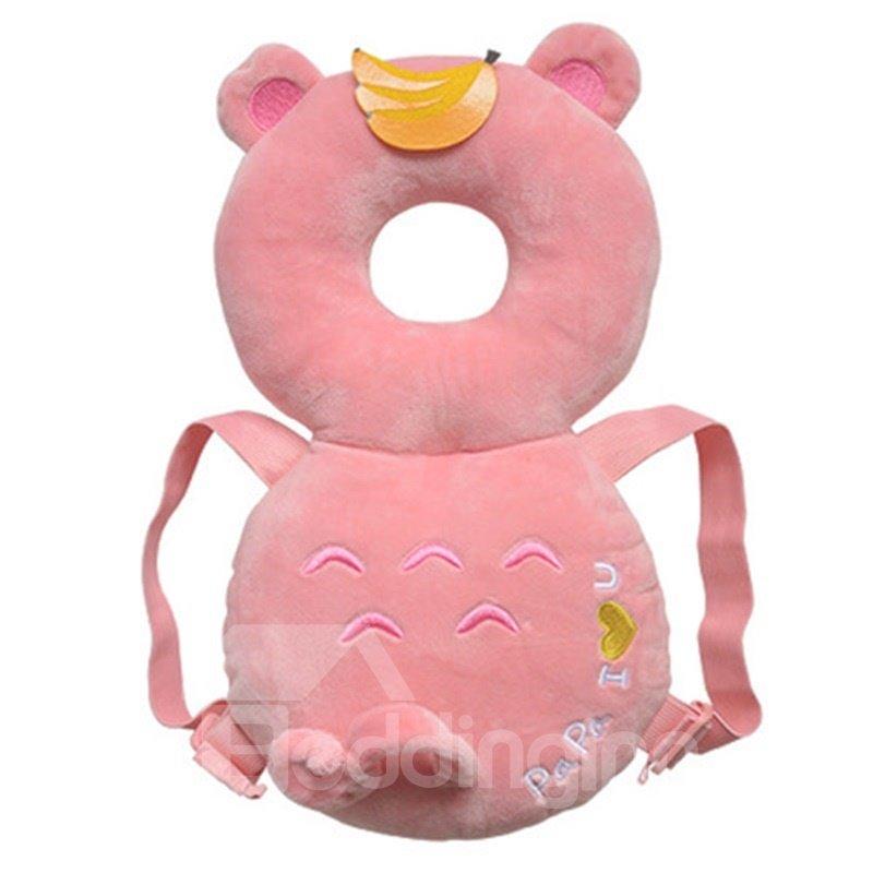 Bear Buckle PP Cotton 1-Piece Pink Anti-Tumbling Best Toddler Pillow