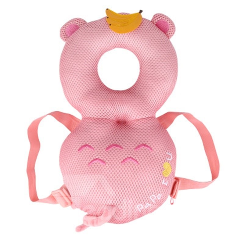 Bear Buckle Polyester and PP Cotton 1-Piece Pink Best Toddler Pillow