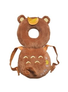 Bear Buckle PP Cotton 1-Piece Brown Anti-Tumbling Toddlers Pillow