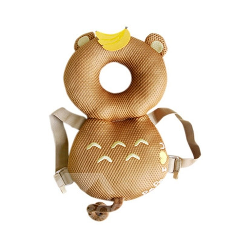Bear Buckle Polyester and PP Cotton 1-Piece Golden Anti-Tumbling Best Toddler Pillow