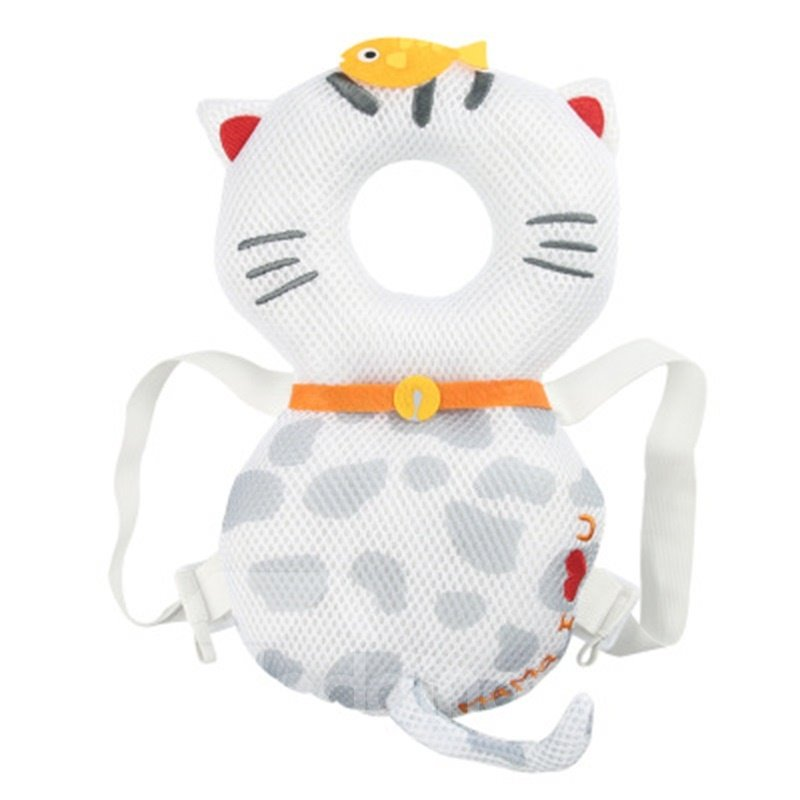 Cat Pattern Buckle Polyester and PP Cotton 1-Piece White Anti-Tumbling Best Toddlers Pillow