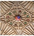 3D Wooden Sculpture Pattern Waterproof Durable and Eco-friendly Ceiling Murals