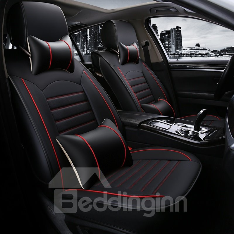 Traditional Clipping Leather Tasteful Serviceable Universal Car Seat Covers