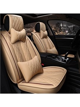 3D Texture Decorous Classic Business Style Leather Universal Car Seat Covers
