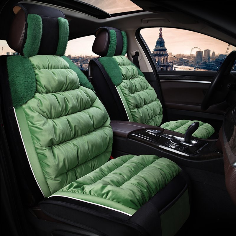 Necessary in Winter Suede Material Warm Universal Car Seat Covers