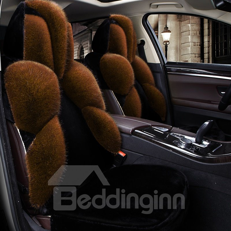 3D Pattern Design With Plush Circumfused Universal Car Seat Covers