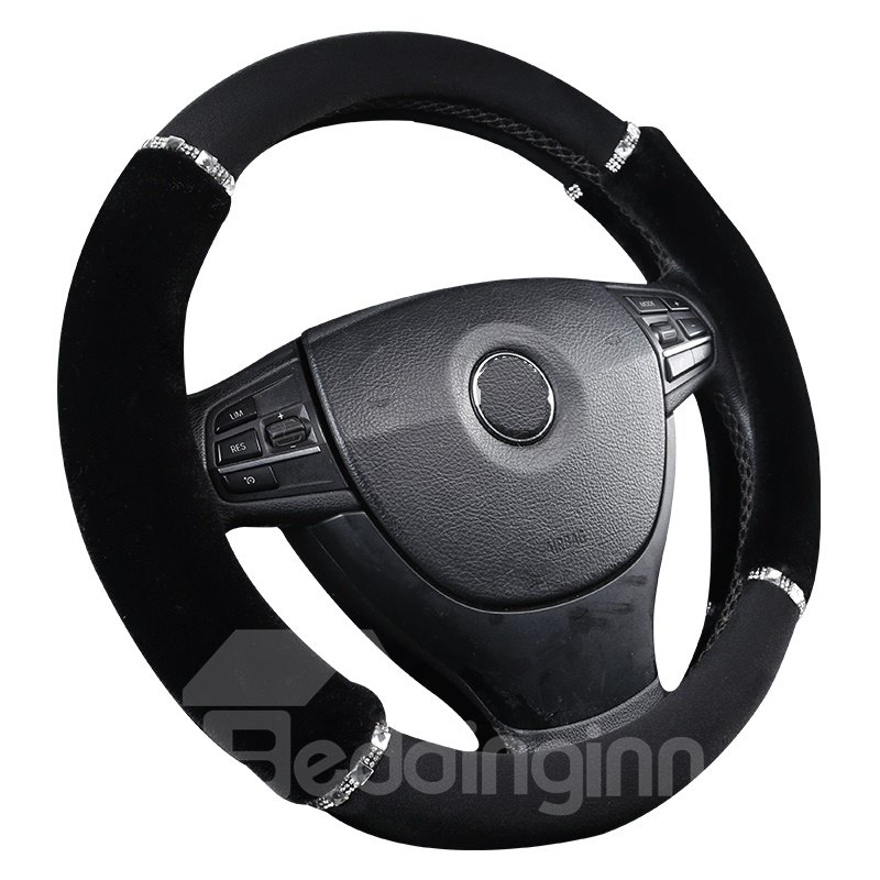 Cool and Practical Ultra Soft Suede Steering Wheel Cover