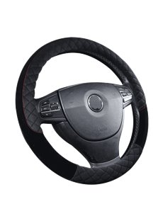 Suede Sense Of Touch Stereo Clipping Steering Wheel Cover