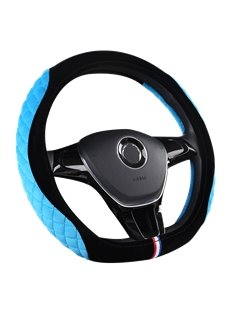 Stereo Clipping Suede Material Sports Style Steering Wheel Cover