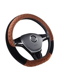 Fluffy Smooth Bright Color Holding Warm Steering Wheel Cover