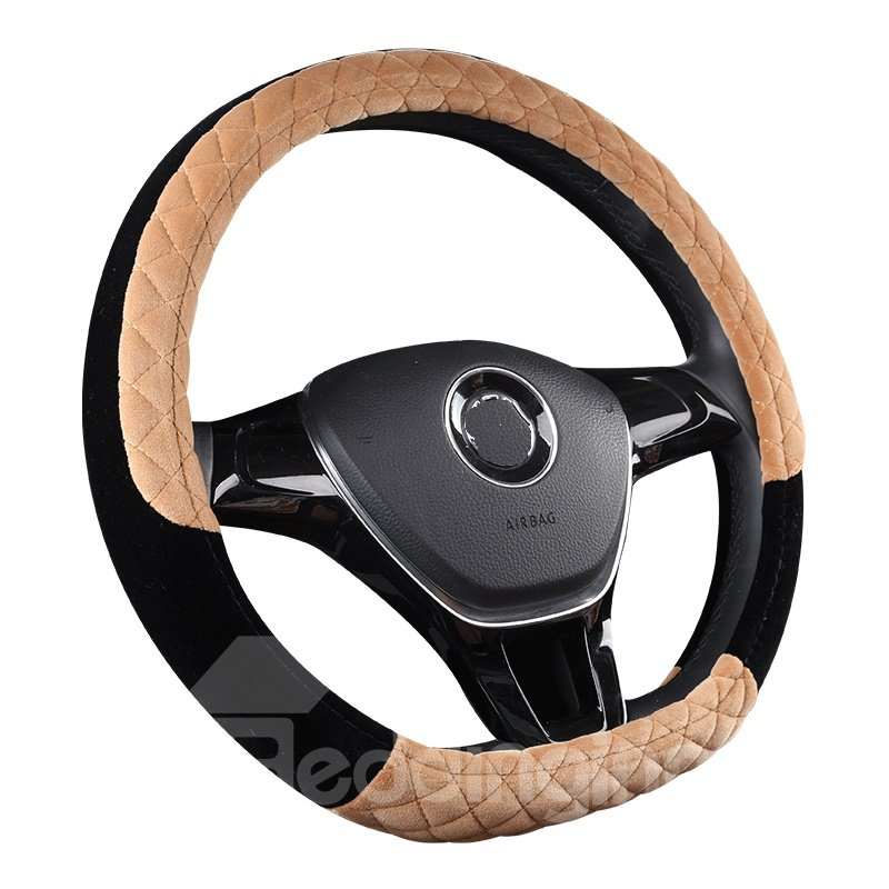 Fluffy Suede Bright Color Holding Warm Steering Wheel Cover