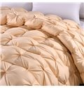 Solid Golden Twisted Flowers Design Super Soft Thick Winter Quilts/Comforters