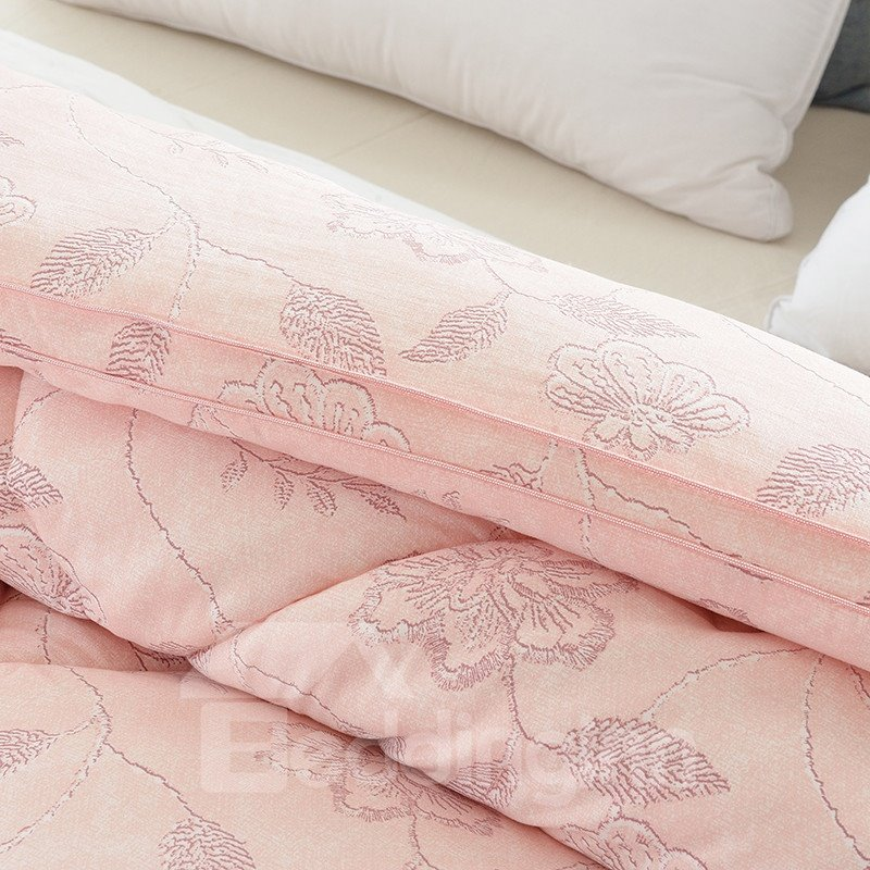 Pink Flowers Printed Super Soft Thick Winter Quilts/Comforters