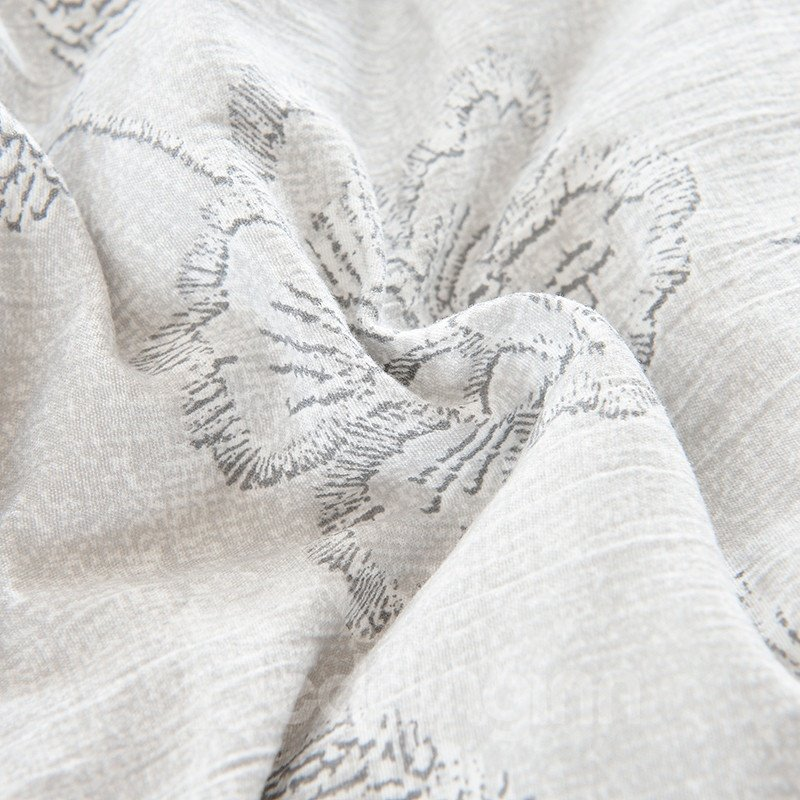 Grey Flowers Printed Super Soft Thick Winter Quilts/Comforters