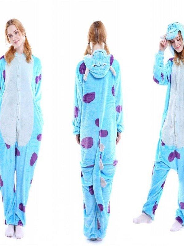 Halloween Bue Sullivan Flannel One-Piece Stretchable Pajama Jumpsuit