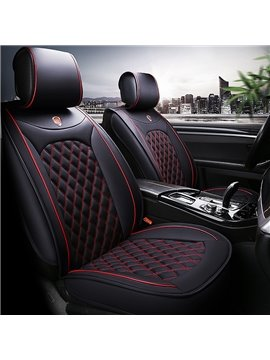 Leather Car Seat Covers, Faux Leatherette Automotive Vehicle Cushion Cover for Cars SUV Pick-up Truck Universal Fit Set for Auto Interior Accessories