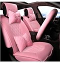 Girly Bright Color Design Durable Flax Material Universal Car Seat Covers