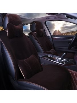 Tasteful Classic Suede Material Warm Universal Car Seat Covers