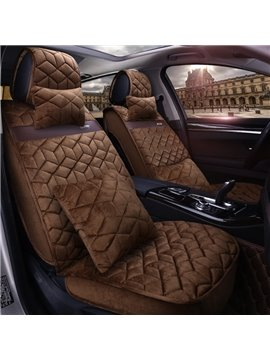 Classic Cost-efficient Rhombus Mosaic Universal Car Seat Covers