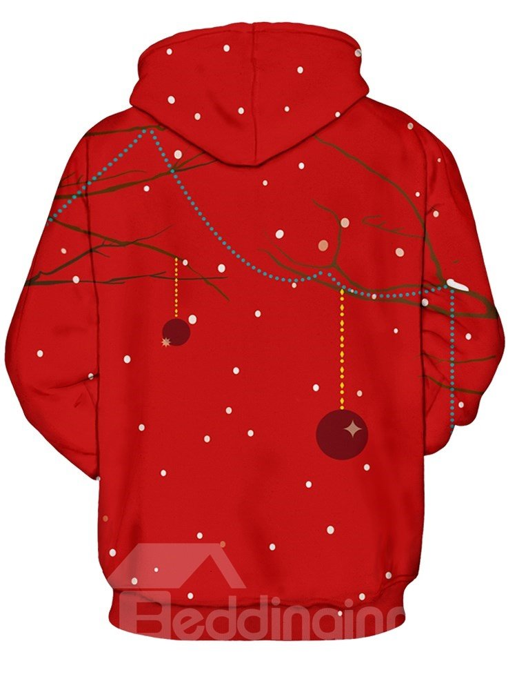 Christmas Sexy Miss Deer Long Sleeve 3D Pattern Hoodie