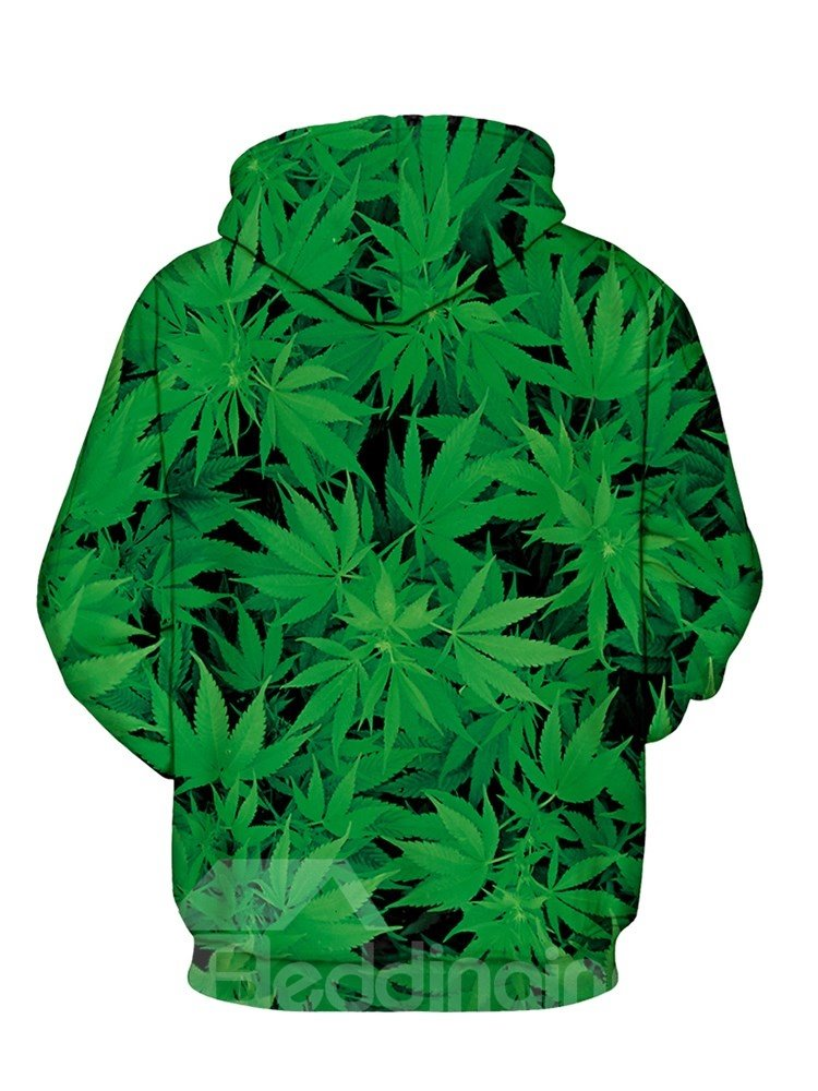 Long Sleeve Green Hug Me Black Man Pattern 3D Painted Hoodie