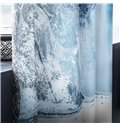 3D Iceberg Waterfalls Printed Natural Scenery Decorative and Blackout Window Curtain