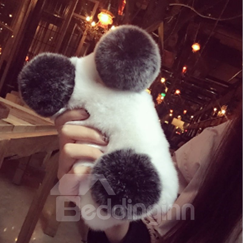 Winter Soft Furry Rabbit Phone Cover for Apple Iphone X Cases
