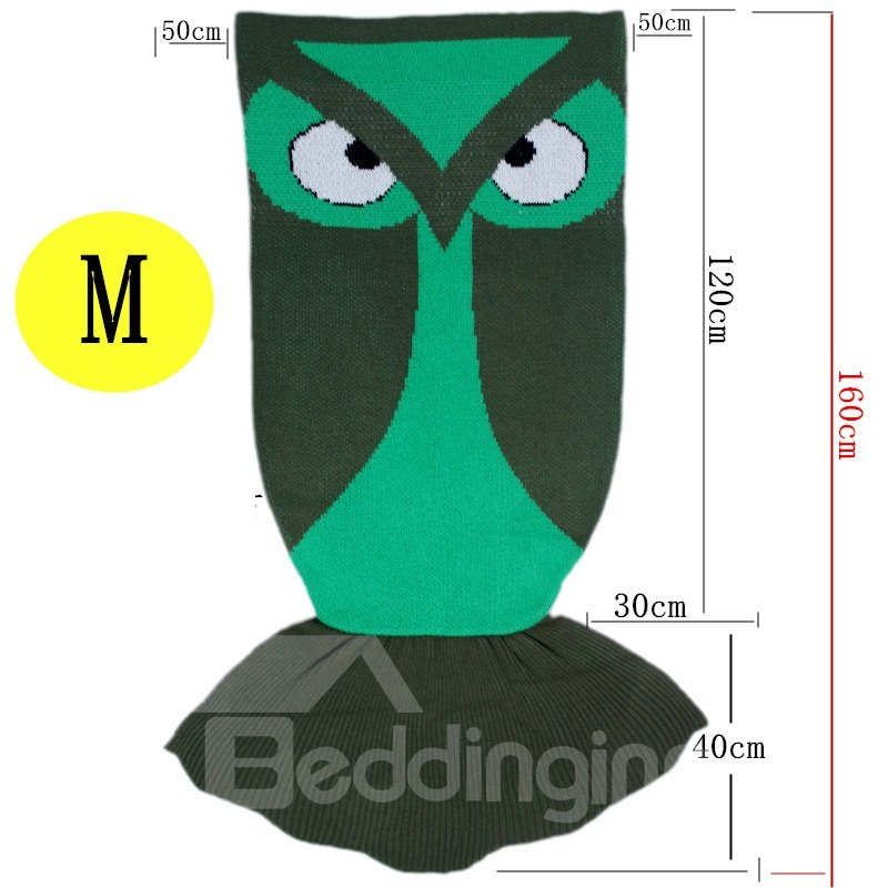 Owl Shape Acrylic Simple Style 1-Piece Baby Blanket