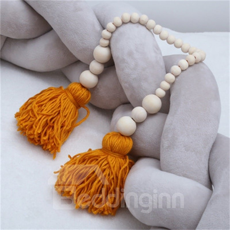Nordic Style Tassel and Beads Decoration Baby Room Wall Decor