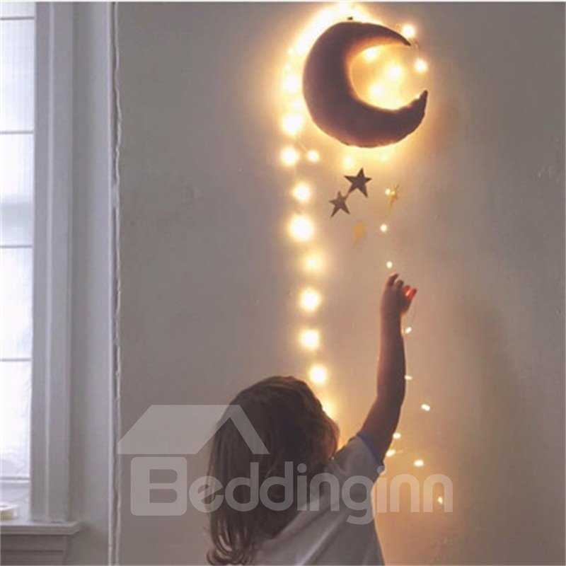 Nordic Style Moon Shaped Kids/Baby Room Wall Decor