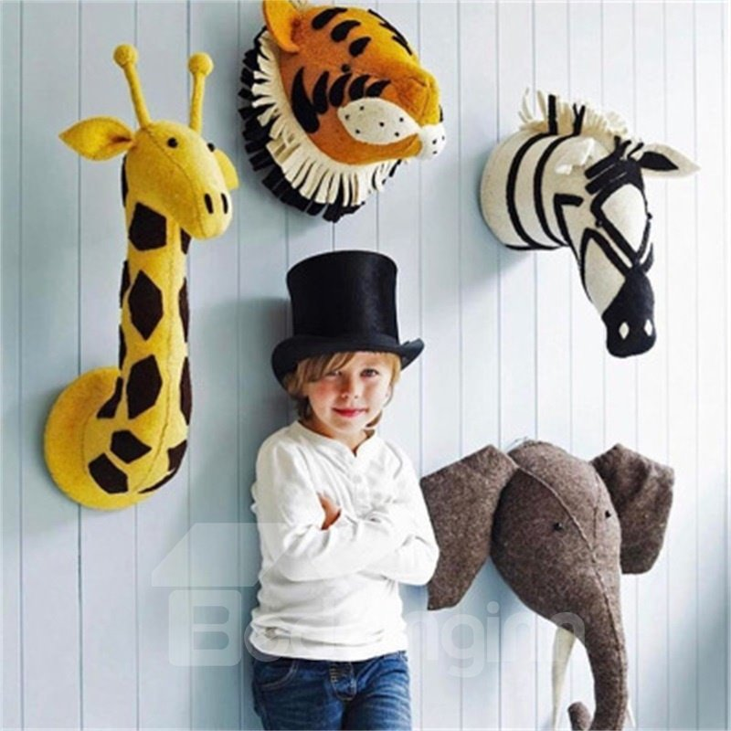 Nordic Style Wool Animals Shaped Wall Decor