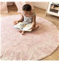 Letters Printed Rounded Cotton White Baby Floor Mat/Crawling Pad