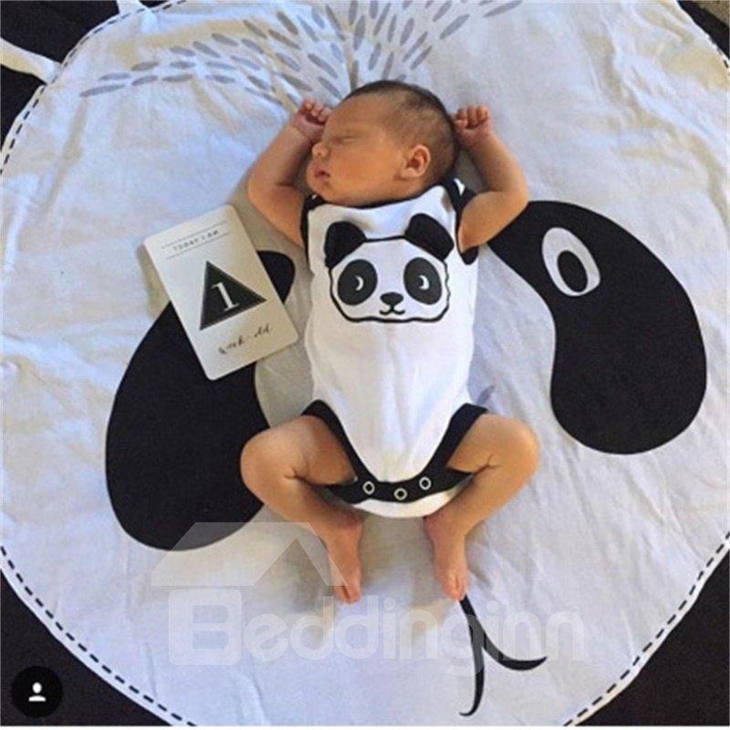 Panda Rounded Cotton Baby Play Floor Mat/Crawling Pad