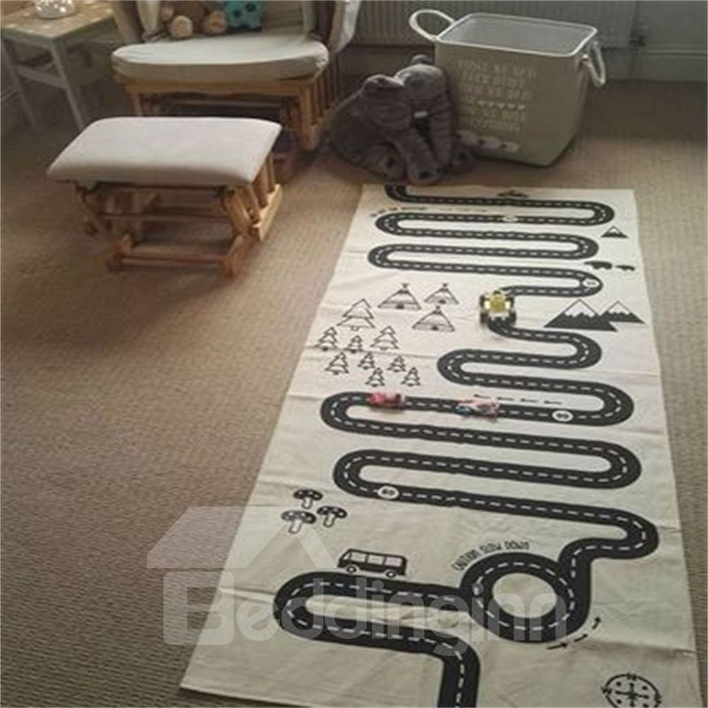 Expressway Printed Rectangular Cotton Baby Play Floor Mat/Crawling Pad